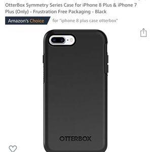 Otterbox iPhone 8 phone case black